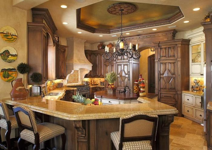 Original dining room design with partly Gothic atmosphere