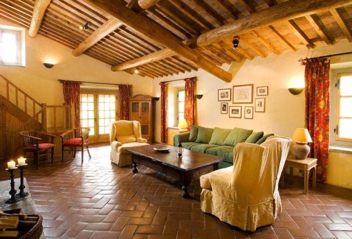 Sandy natural interior color scheme for suburban house