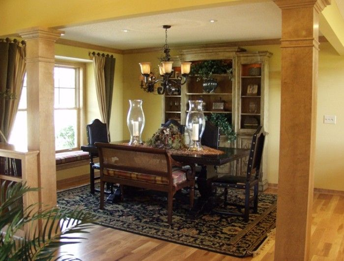 Warm interior atmosphere with wooden furniture