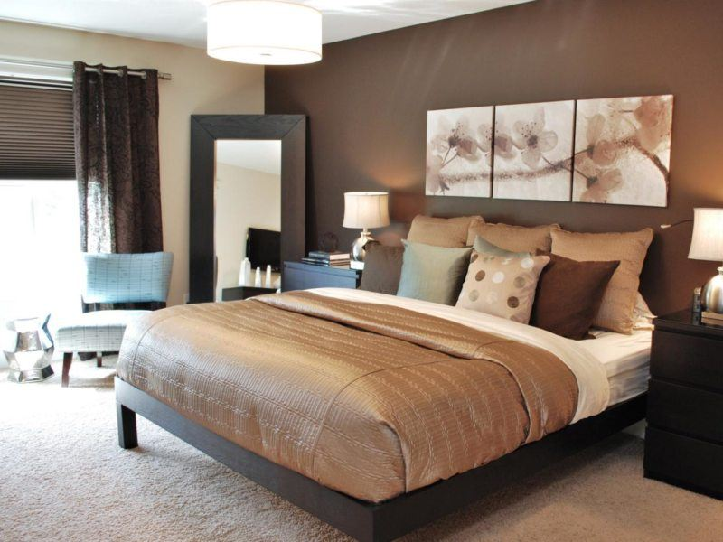 Drawing composition of three pieces for modern noble beige colored bedroom