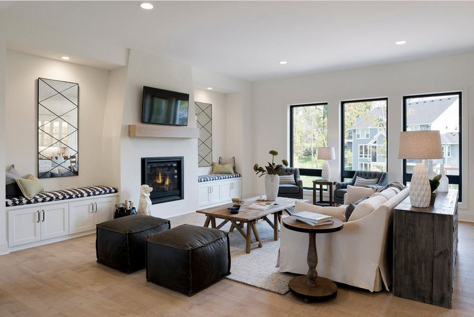 White design of the living room