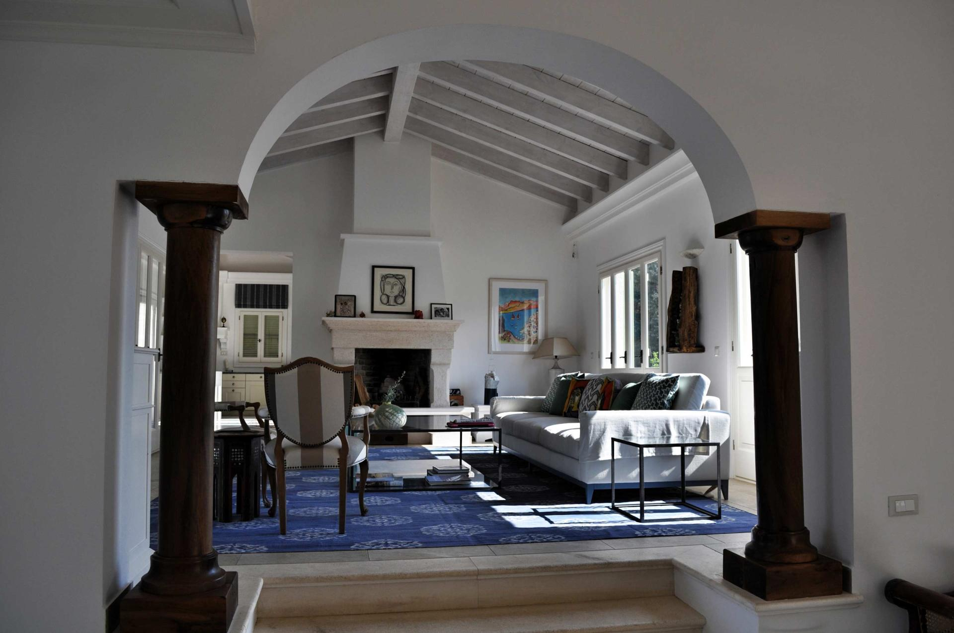 Spectacular room arch with dark columns