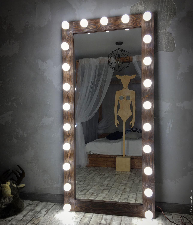 Bulb backlighting of the full--height mirror