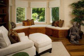 Bay window and oriental traditionan furnishing