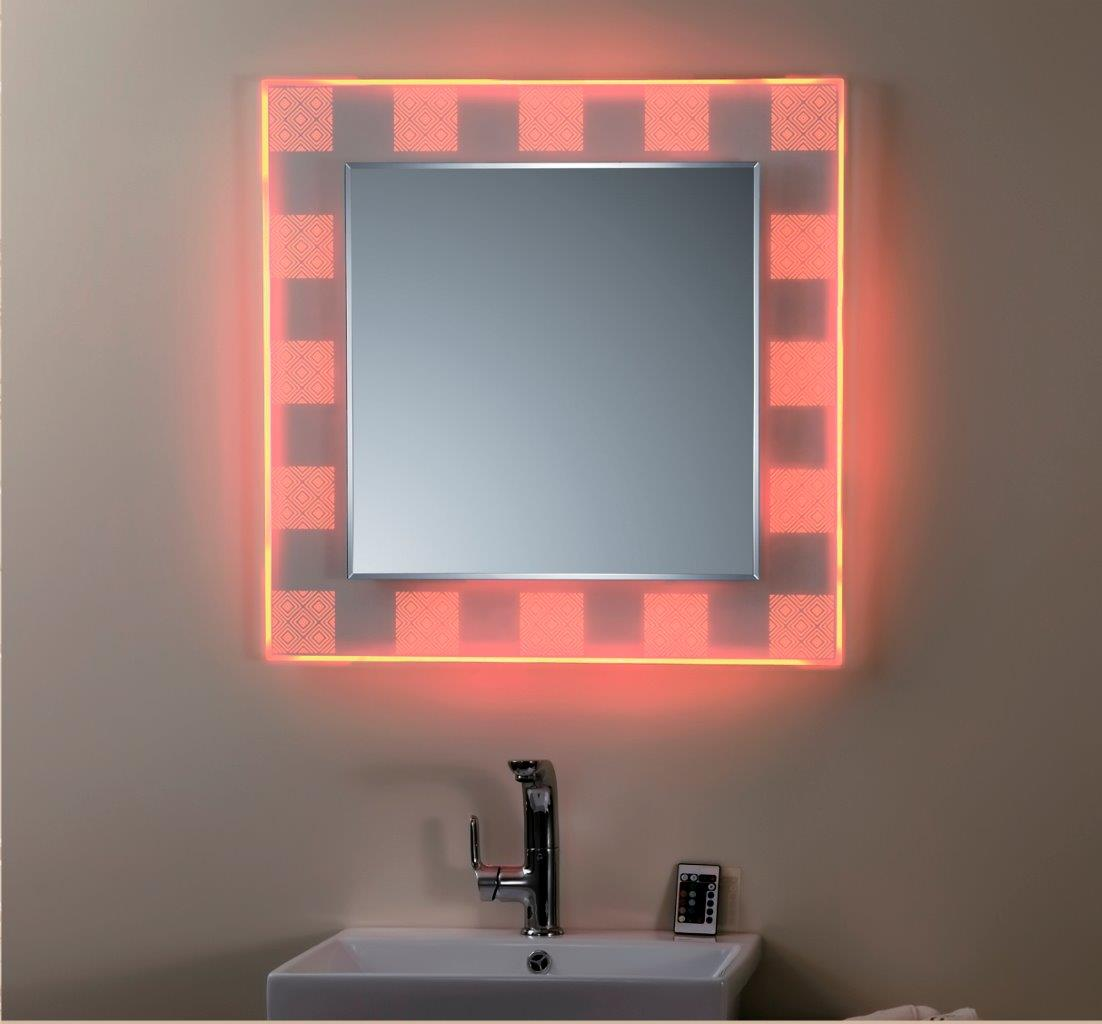 Red backlight of the mirror
