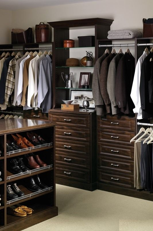 Dark wardrobe in modern