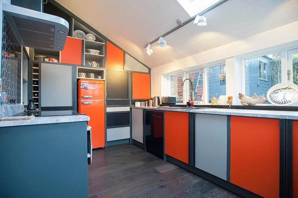 Colorful design of the modern interior