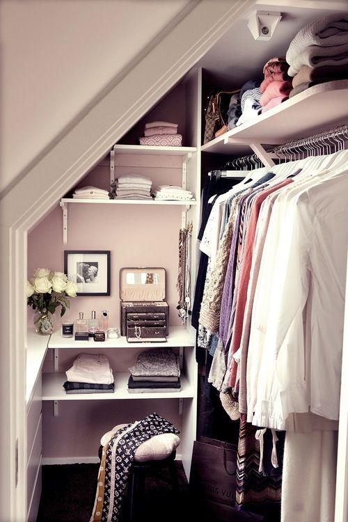 Small loft room for the wardrobe