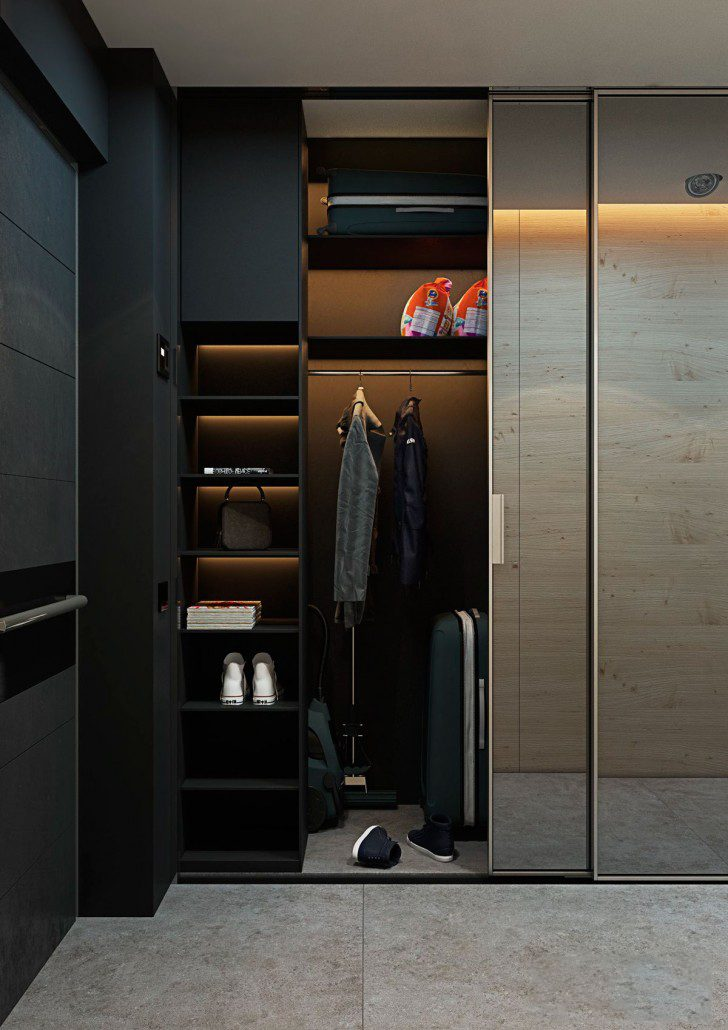 Noble finishing materials for modern styled dressing room