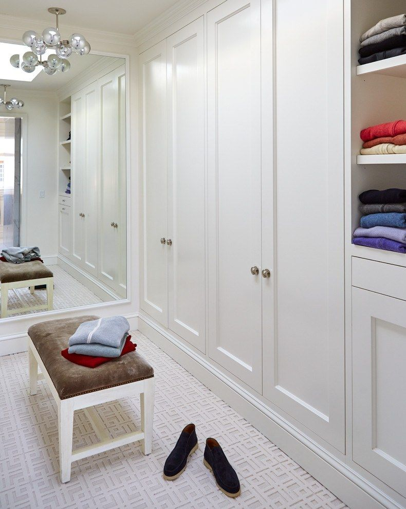 Large wardrobe in Classic style and white color