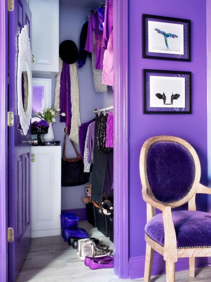Glamour purple wardrobe