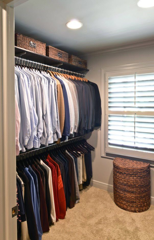 The storeroom for shirts and suits