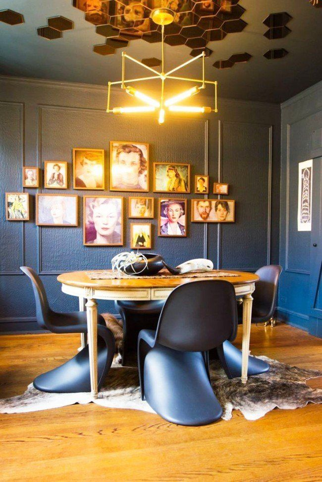 Pictures as the decoration for Steampunk designed dining room