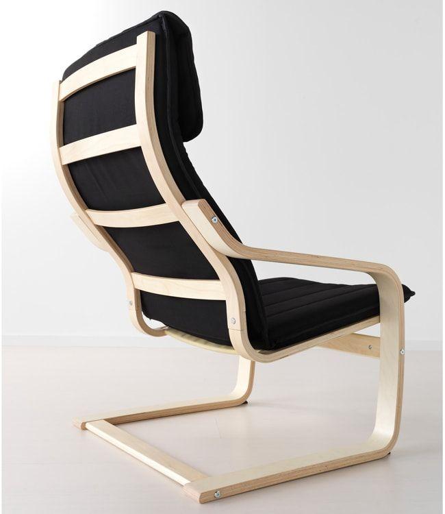 IKEA armchair on light wooden frame
