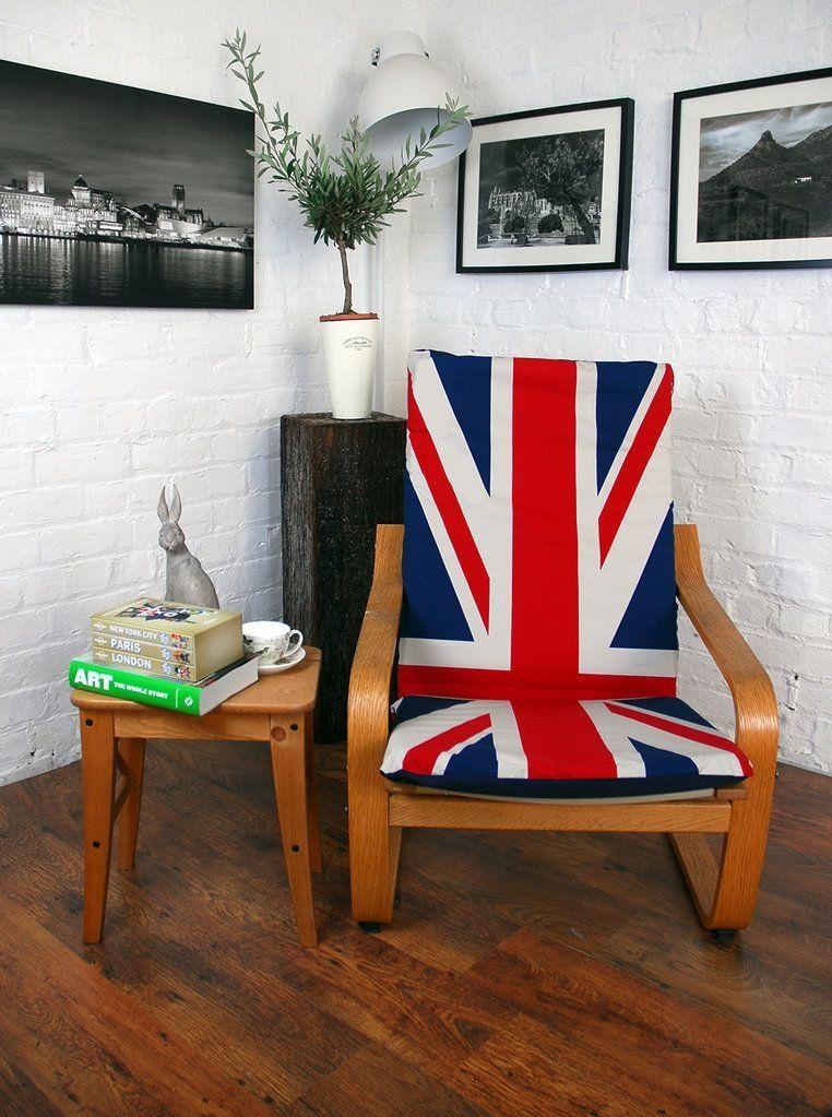 British flag at the poang chair