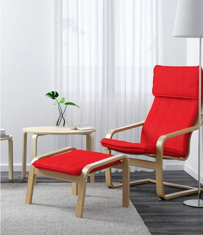 Red poang chair