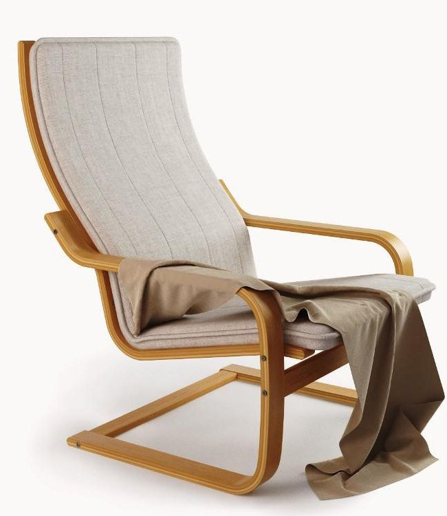 Light wooden frame of Poang chair