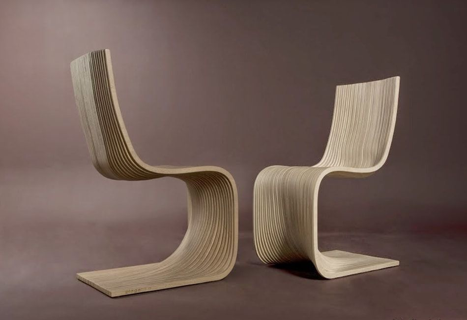Fully wooden anatomic chair