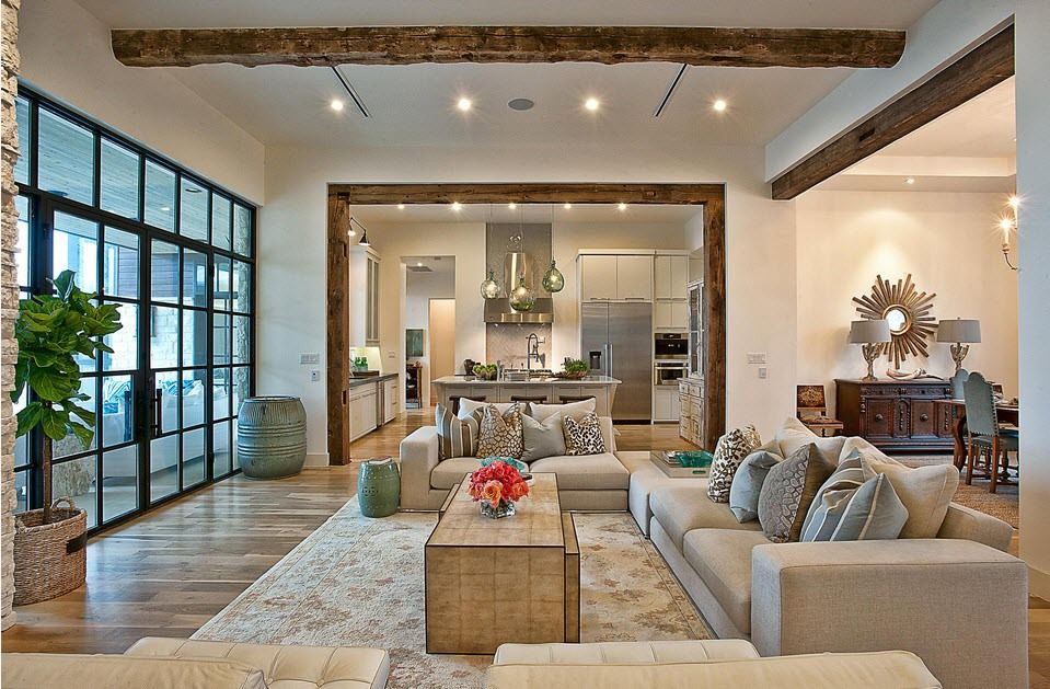 Contemporary touch in the large cottage