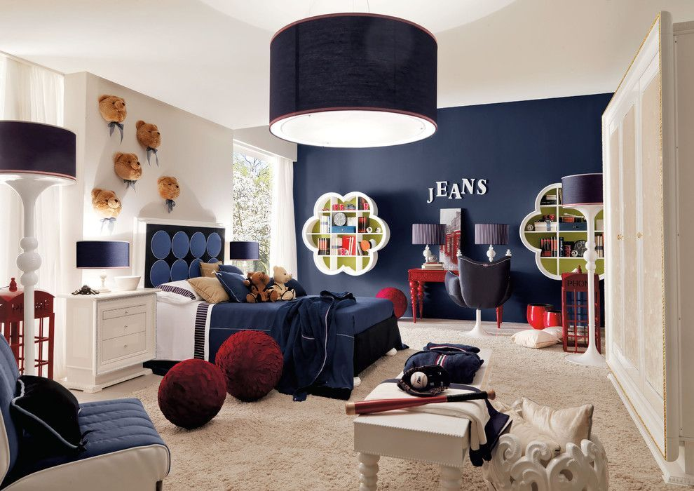 Kids' room in modern and dynamic American style