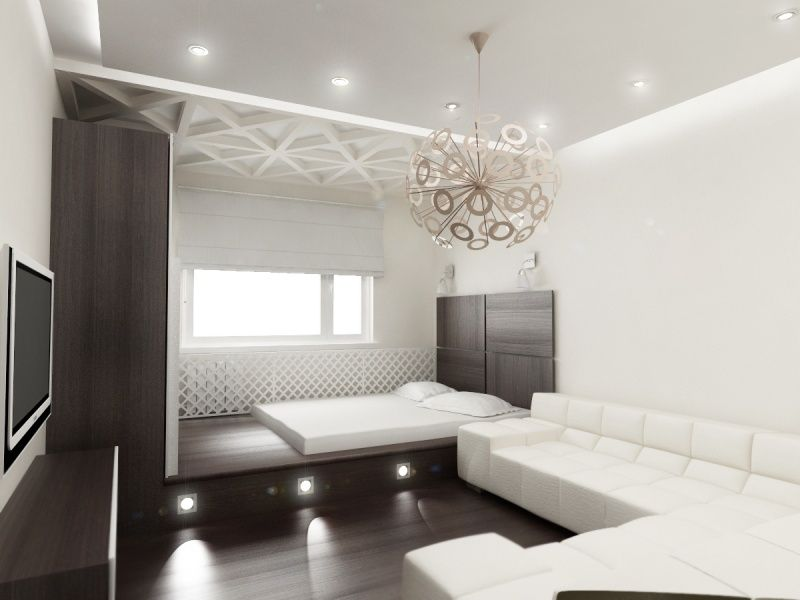 Fresh accent interior decoration for modern black and white living room