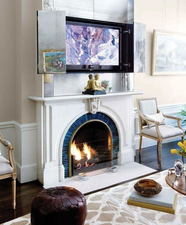 Classic fireplace design for the American styled house