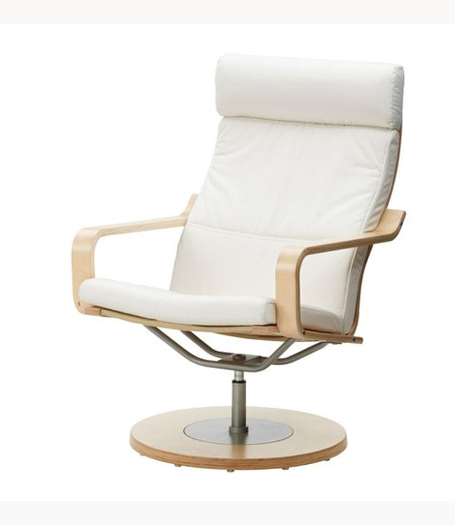 Swivel based chair in white