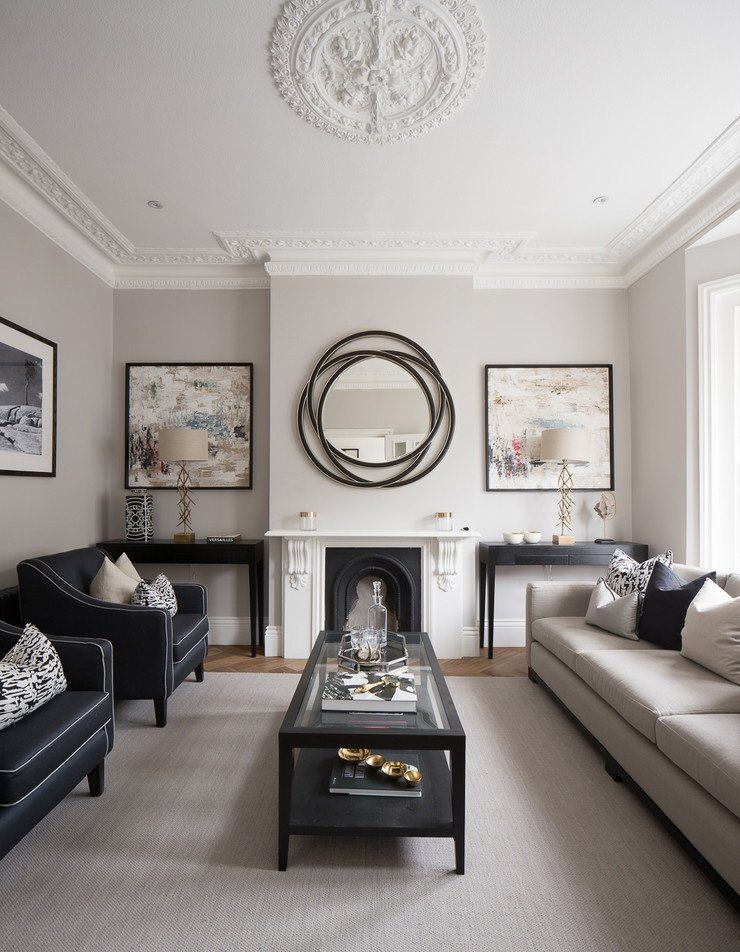 Classic design for the living room with touch of minimalistic arrangement