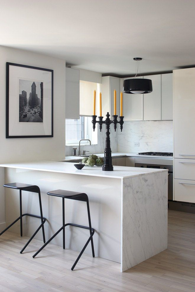 Black furniture for modern kitchen with island at the dining zone