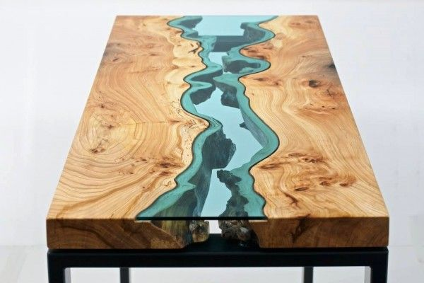 Like a flowing river carved wood