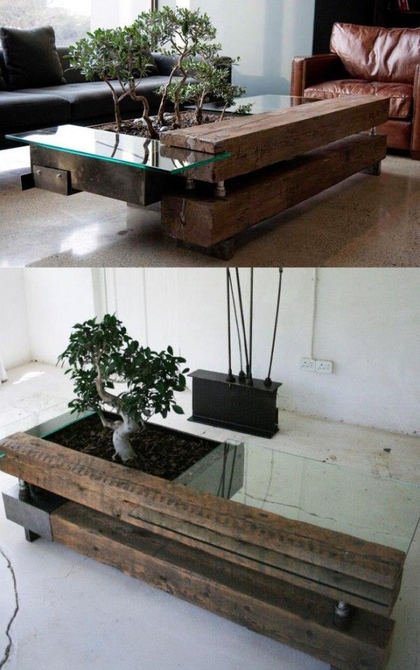 Double planter table