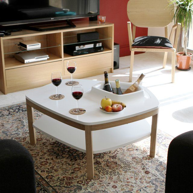 Coffee table with chiller