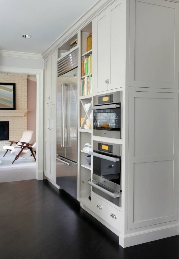Built-in appliances and classic cabinets
