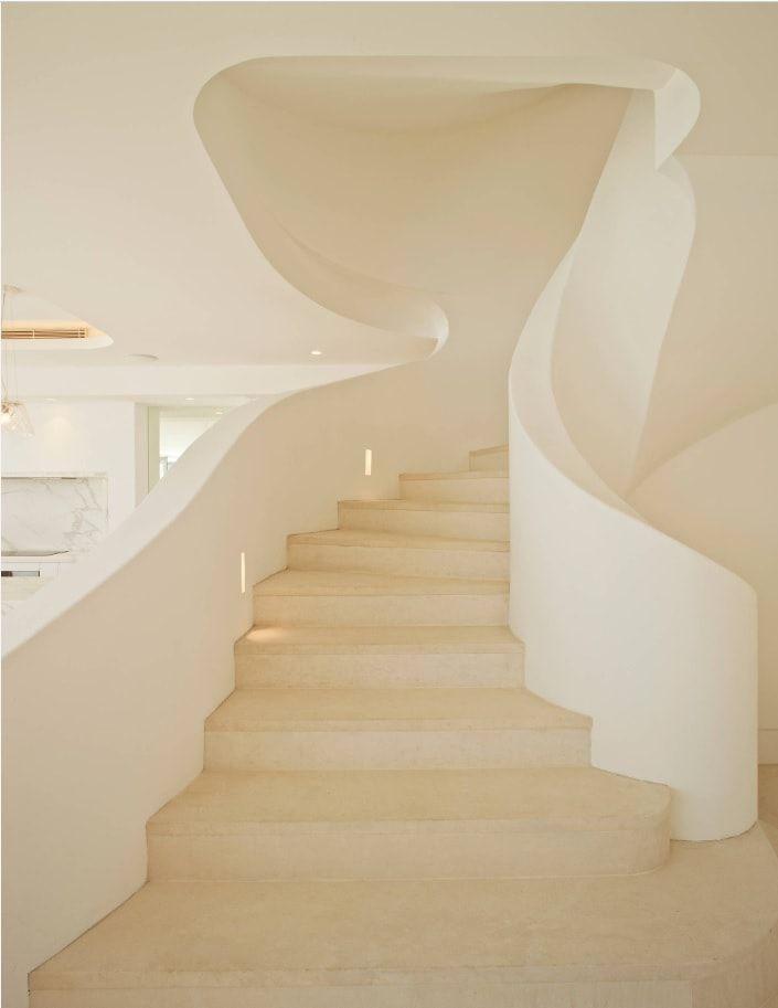 Mediterranean Stairway by Inlinebuilding & Construction Management