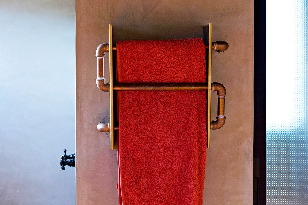 Towel at the drying rail