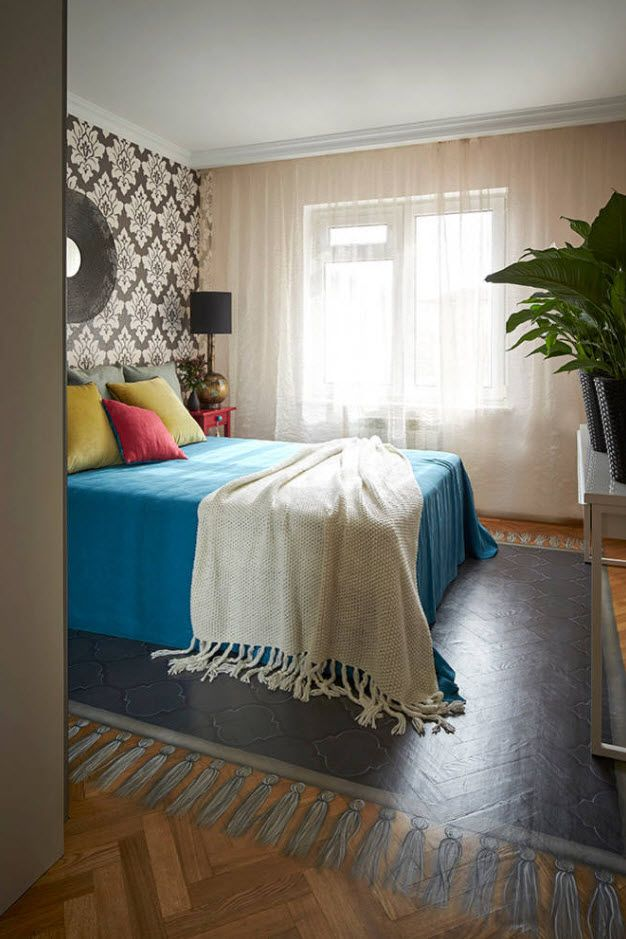 Modern alternative style of decoration with colorful bedding
