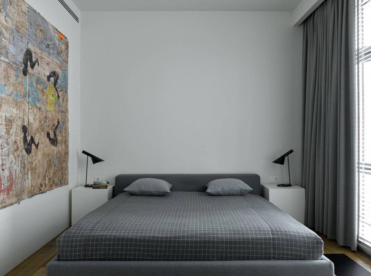 120 Square Feet Bedroom Interior Decoration Ideas. Minimalistic and functional design