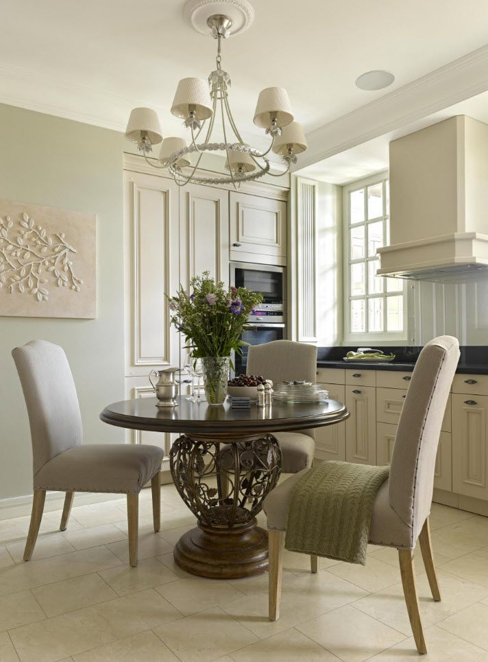 75 Square Feet Kitchen Interior Decoration Advice and Design Ideas. Classic interior in pastel colors