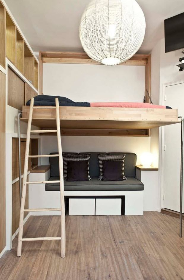 Two-level bunk bed in different alternative design