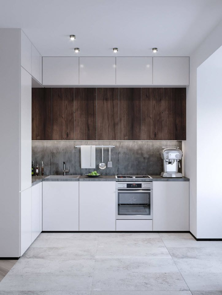 75 Square Feet Kitchen Interior Decoration Advice and Design Ideas. Nothing extra for small kitchen with wooden upper cabinets' tier