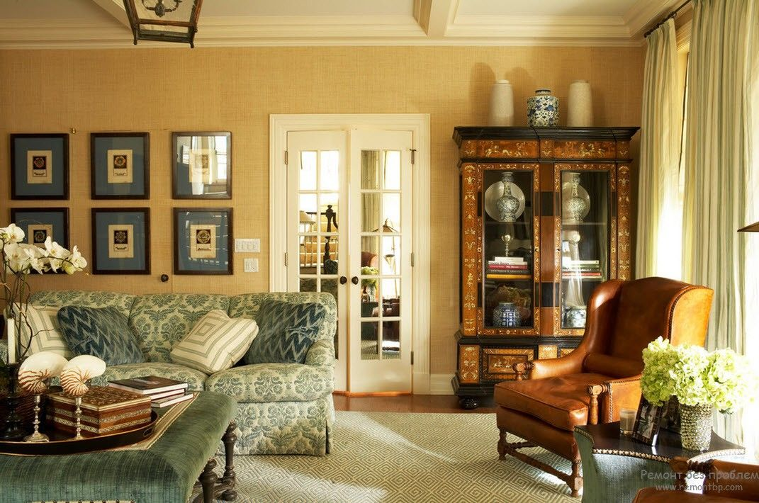 French Interior Design Style Overview. Sandy painted walls and casement windows in doors