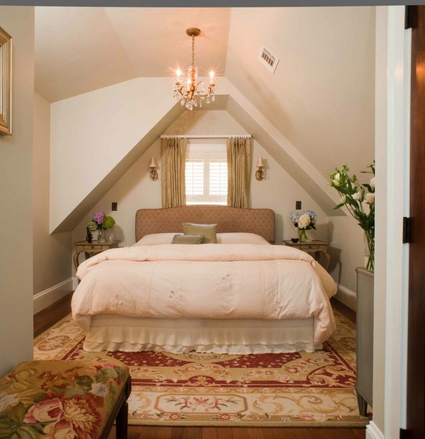 Organizing Comfortable and Functional Attic Room Advice with Photos. Classic styled bedroom with pink coverlet