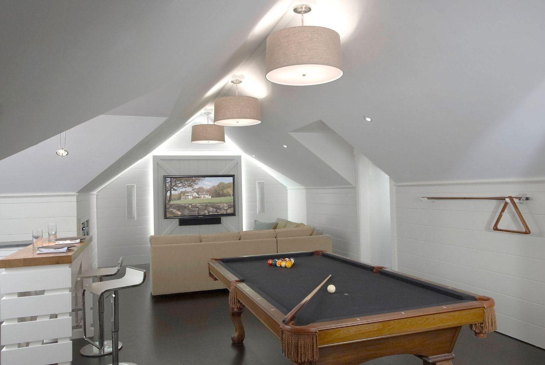 Billiards room playground at the attic