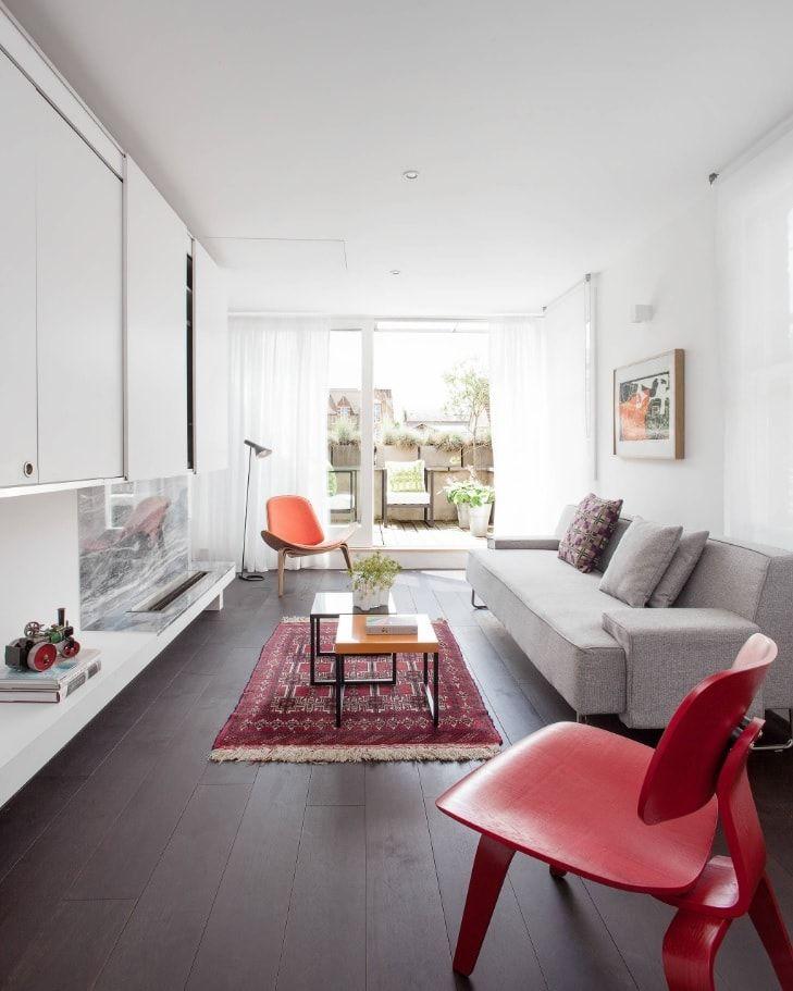 Nice modern idea of living room at the loft floor