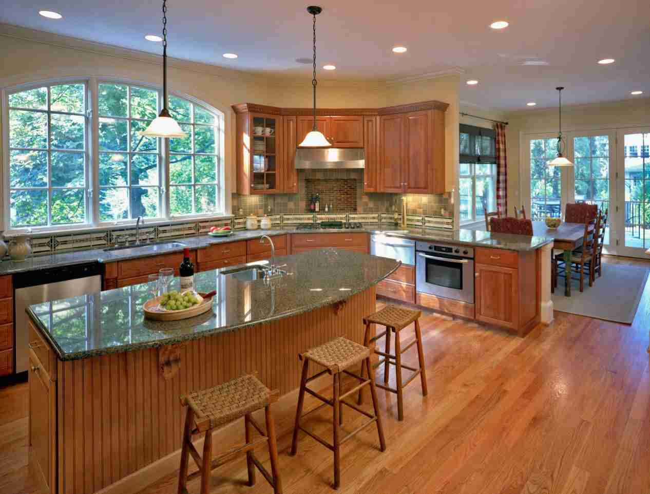 Solid Wood Kitchen Stylish Ideas for Modern Interiors. Light wooden design with marble countertop