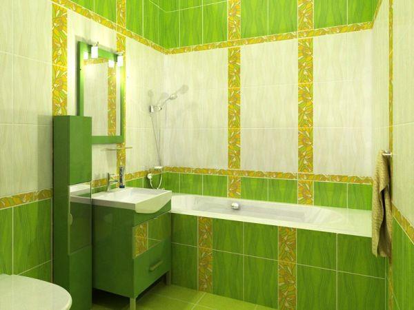 Choosing Ceramic Tile for Small Bathroom. Total green heaven