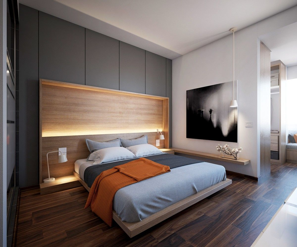 150 Square Feet Bedroom Interior Decoration and Photos. Open space with functional modern bedroom zone
