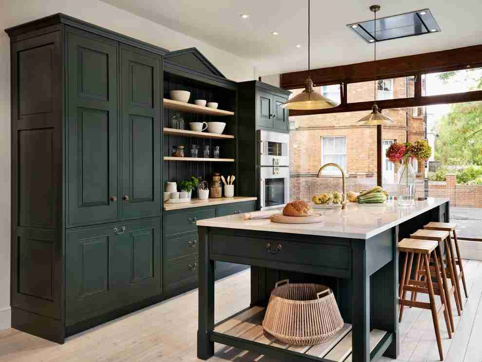 Solid Wood Kitchen Stylish Ideas for Modern Interiors. Spectacular wooden black design of the furniture