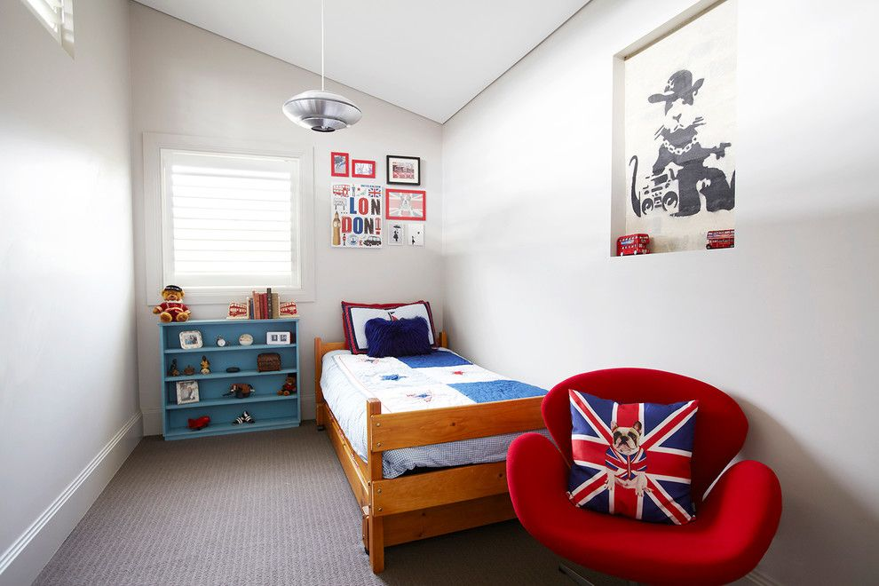 Loft designed kids' room with the touch of GB symbols