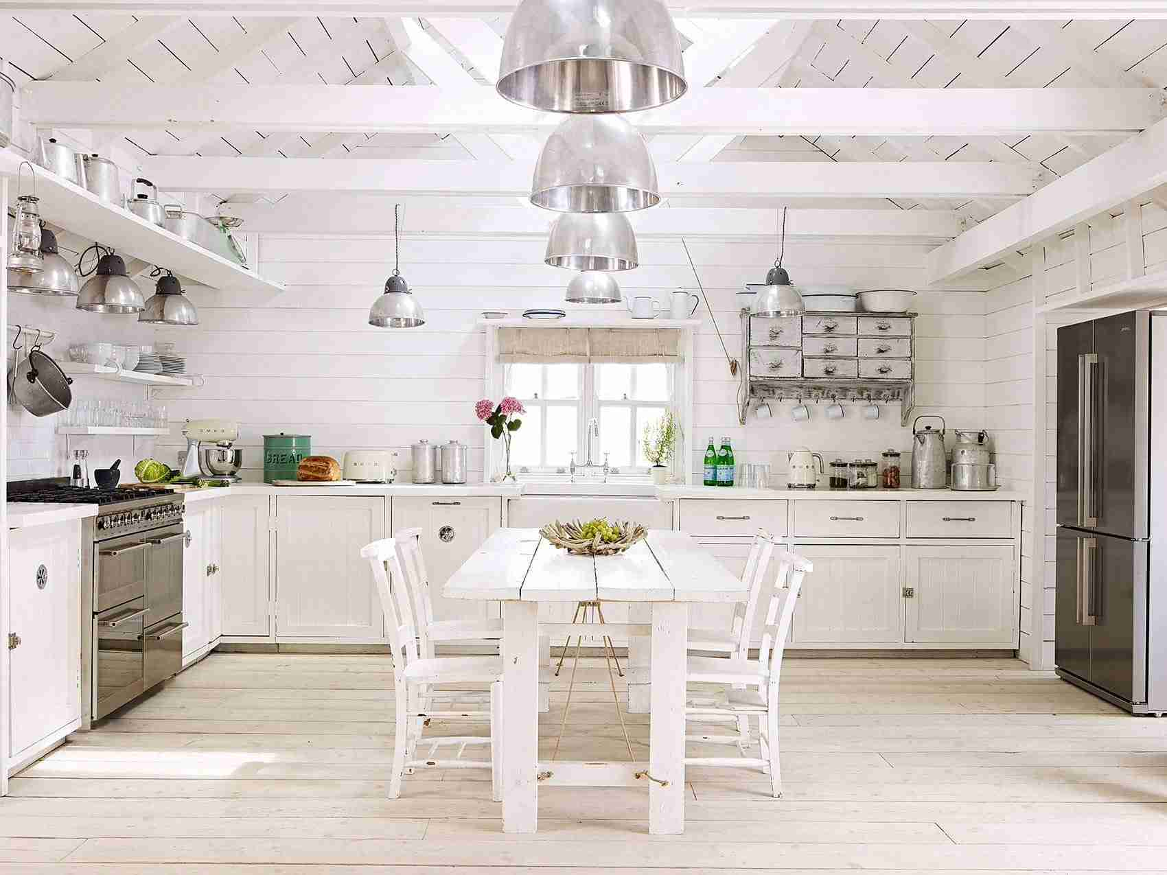 Solid Wood Kitchen Stylish Ideas for Modern Interiors. White colored Classic interior